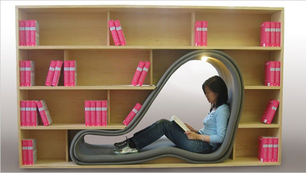cave bookshelf hakura adachi