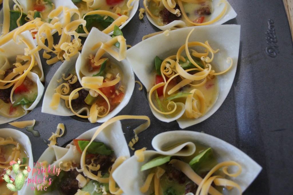 Mini Quiche recipe with wonton wrappers