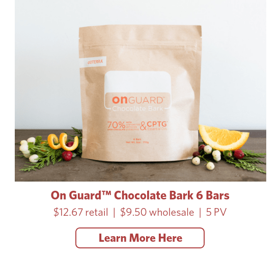 doterra onguard infused chocolate bark