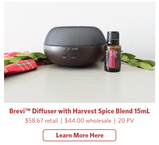 doterra holiday brevi diffuser harvest spice essential oil