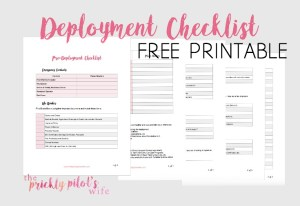 Pre-Deployment Checklist with FREE Printable
