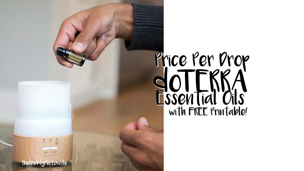 doterra price per drop printable add essential oil to a diffuser