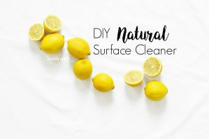 DIY Natural Surface Cleaner with Essential Oils