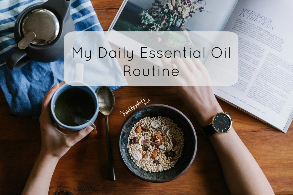my daily essential oil routine