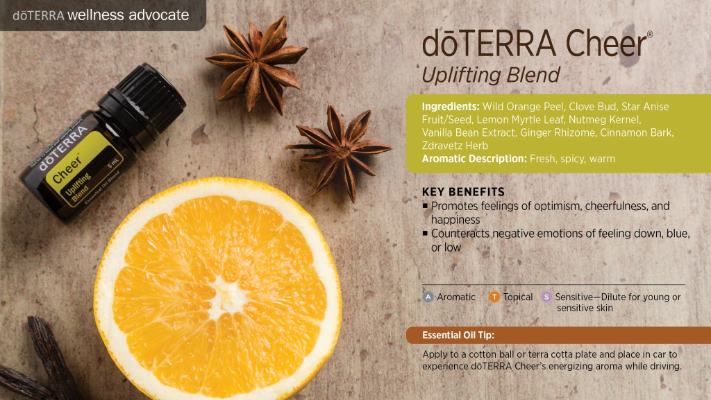 doterra cheer essential oil benefits and uses
