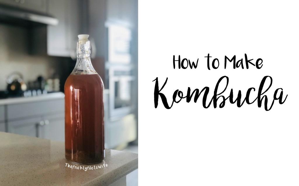 How to make kombucha recipe