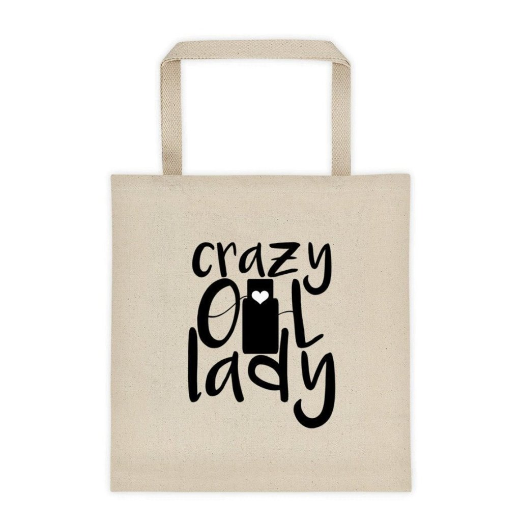 crazy oil lady tote bag essential oil apparel