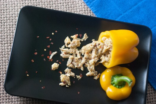 Scrambled Egg Stuffed Bell Peppers are incredibly simple, but not short on flavor. And they're so pretty! http://wp.me/p4Aygm-1ZW