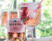 Bubbly Berry Basil Beverage - This Bubbly Berry Basil Beverage has juicy June berries and basil with a delicious rose bubble. Perfect for a patio refreshment, wine Wednesday, champagne brunch... or just because! https://www.theprimaldesire.com/bubbly-berry-basil-beverage