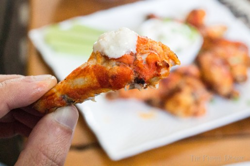 Hot wing with Blue Cheese Yogurt Dressing with Actual Probiotic Yogurt