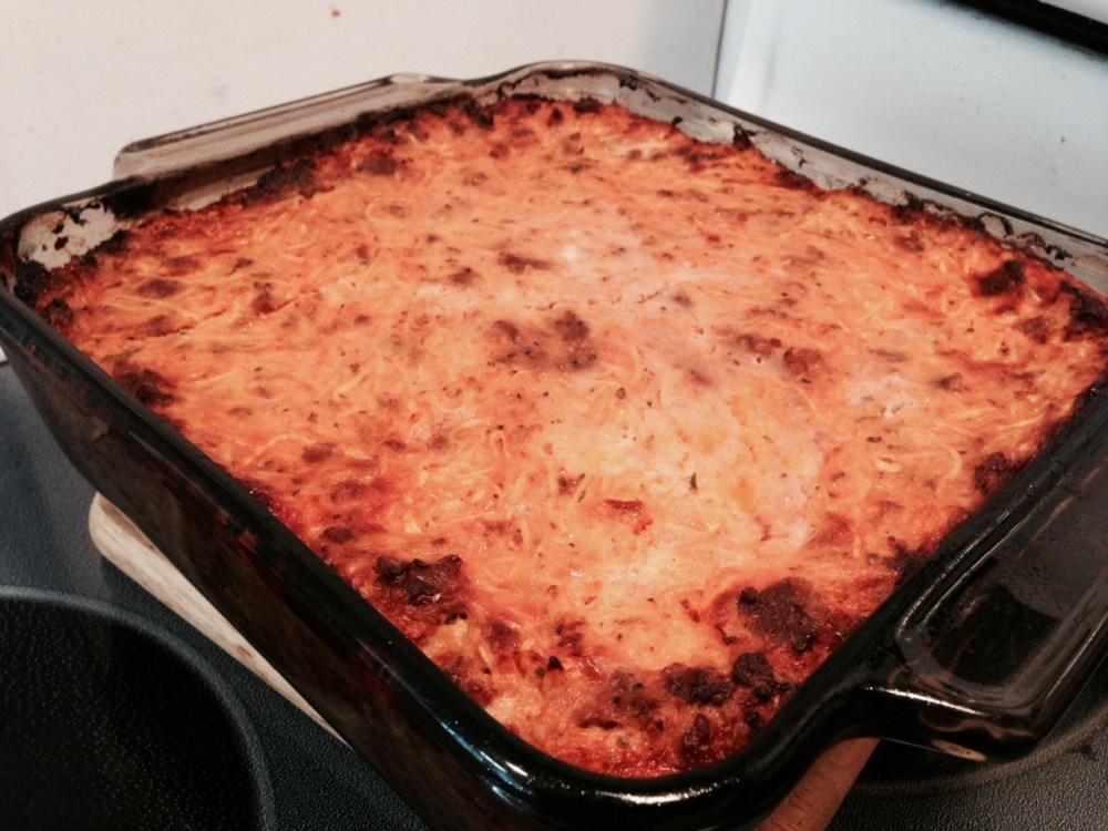 Pizza Spaghetti Casserole (3/4)