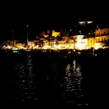 Naxos Chora by night