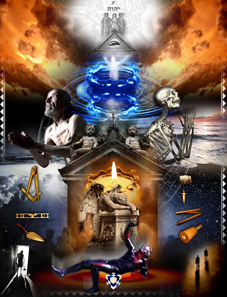 digital, art, illustration, tracing board, Freemasonry, Master Mason