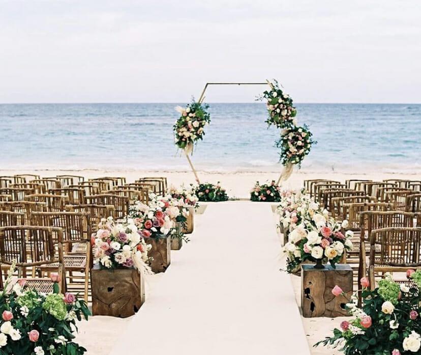 Dominican Republic beach wedding ceremony