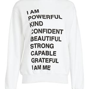 White Empowerment Mantra Sweatshirt