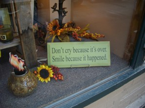 Sign in the Gift Niche on Market Street