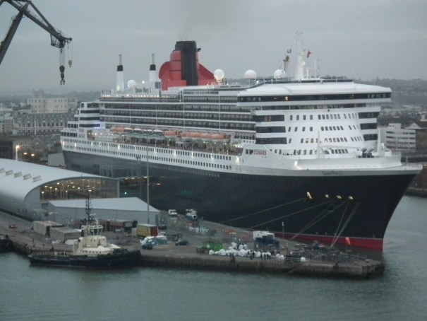 Sailing past the Queen Mary 2 in port in Southampton on the Celebrity Eclipse. THE PRIVATEER CLAUSE photo