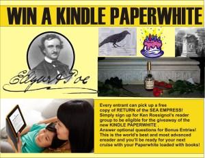 Kindle Paperwhite promo for Poe Birthday