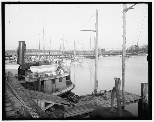 Oyster steamboat Kecoughtan at landing, probably in Tidewater Virginia  LoC