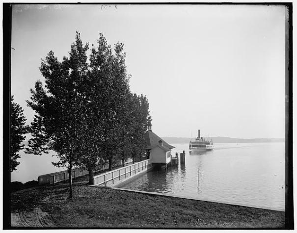 Steamboat arrives at Mount Vernon_ Va. LoC