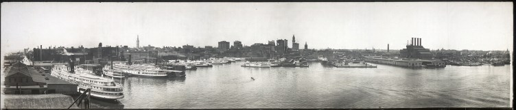 Steamboats in port in Baltimore_ Maryland LOC
