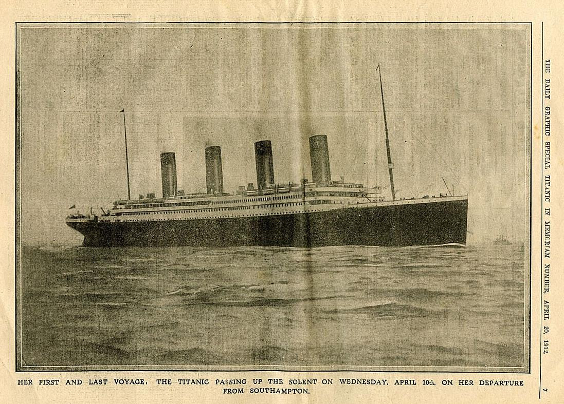 Titanic Notes – 1936 Radio Interview – Account by Second Officer Charles Lightoller of the Titanic's last hours