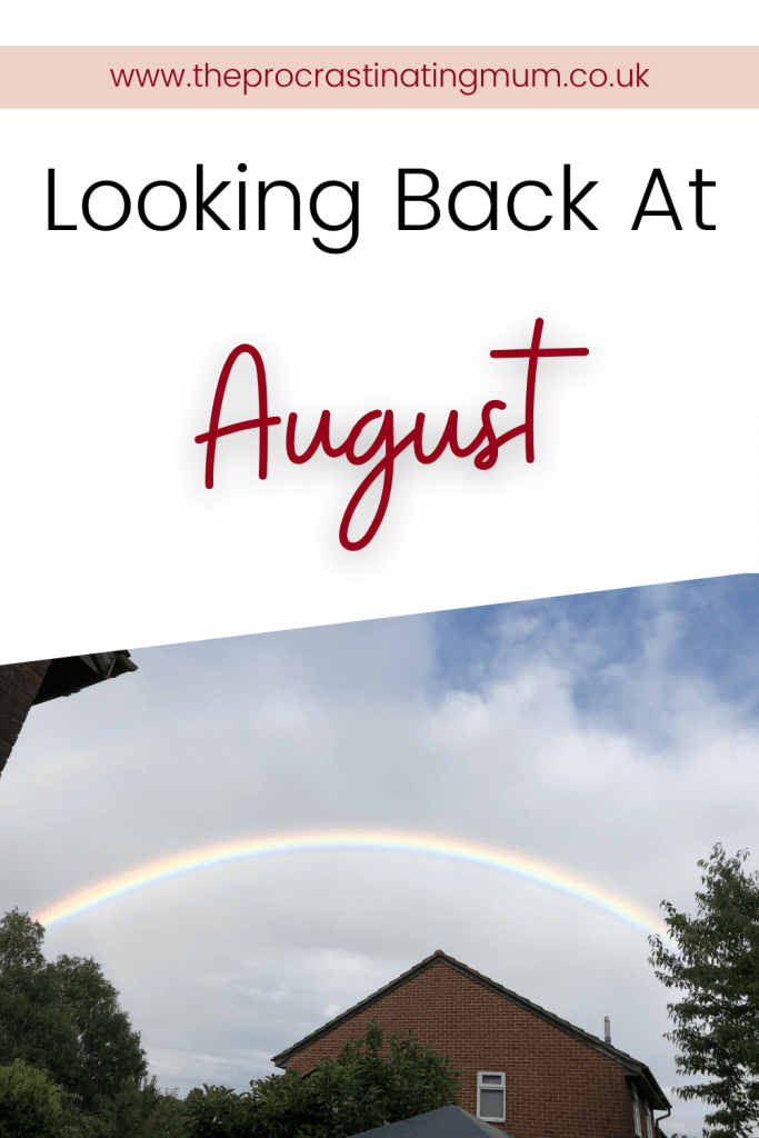 Looking back at August Pinterest Pin