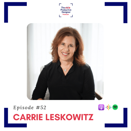 Carrie Leskowitz as guest on TPD episode Designing for mental health