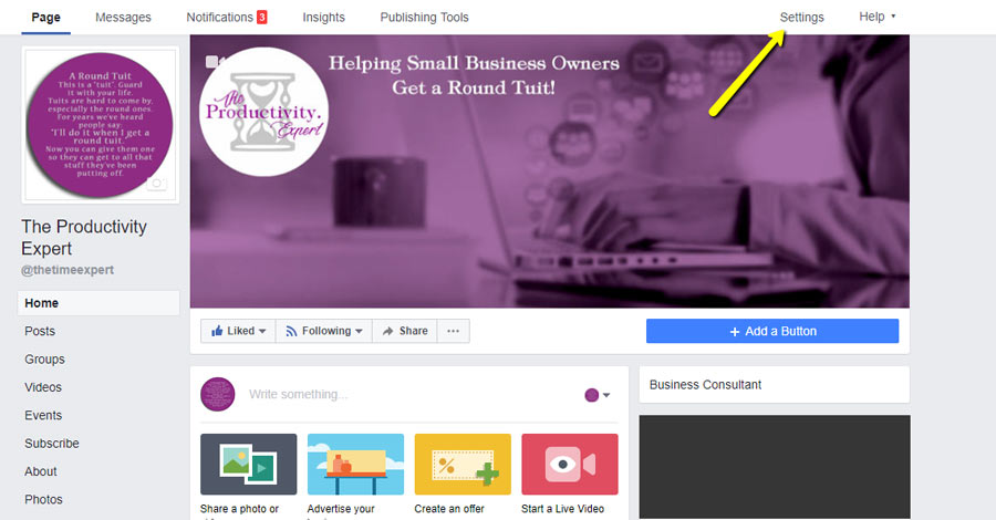 link your facebook page and group