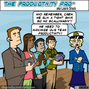 Running a Tight Ship - Laura with the Captain's Hat by Laura Stack #productivity