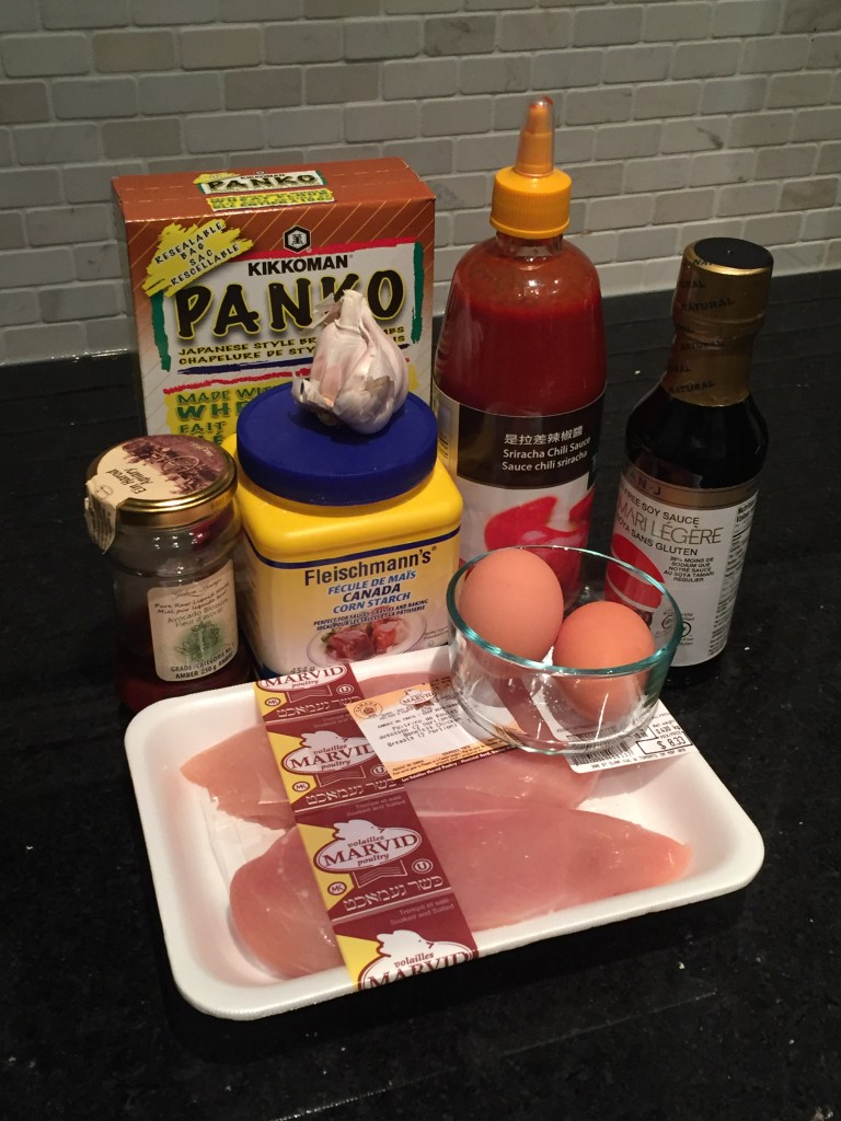 All the ingredients you need to make easy honey baked chicken