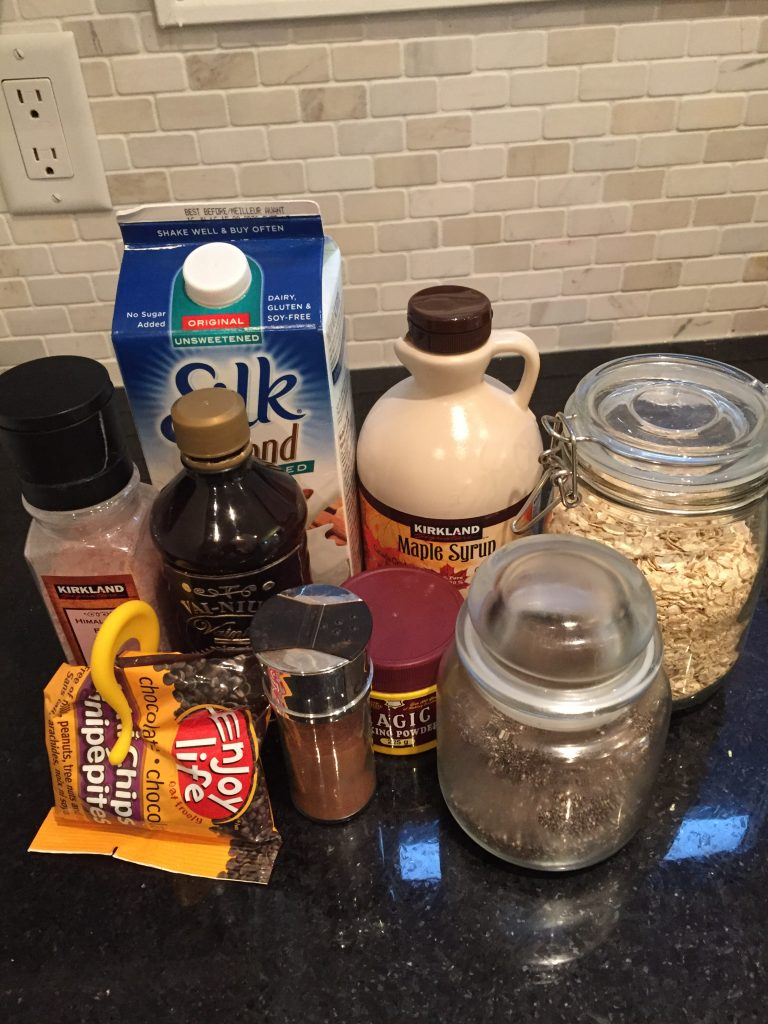 Ingredients for LID vegan gluten free muffins