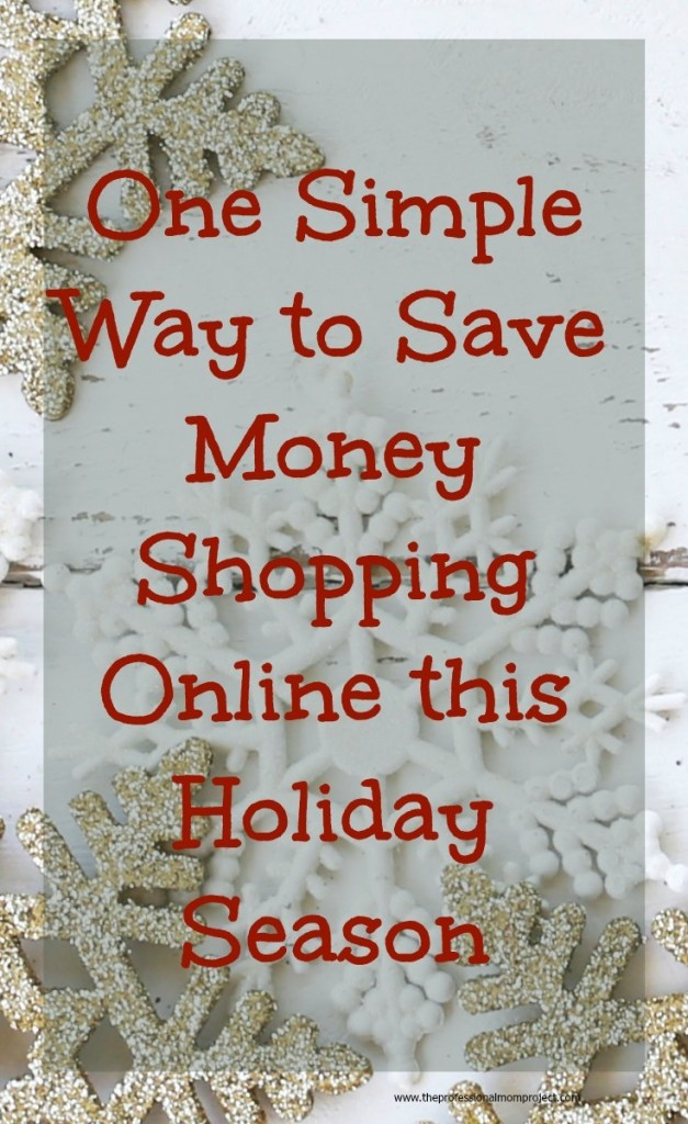 Check out this post to find one simple way to save money shopping online this holiday season.