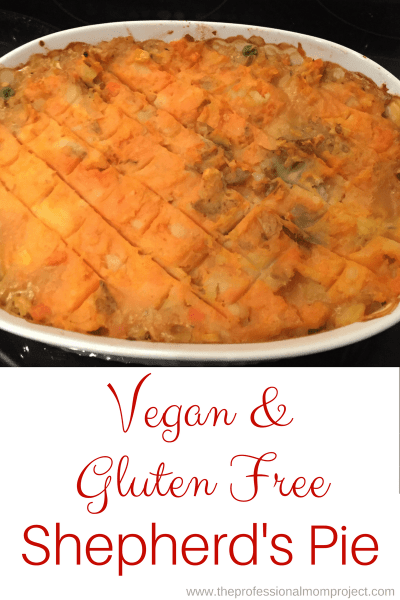 Gluten Free Vegan Shepherds Pie
