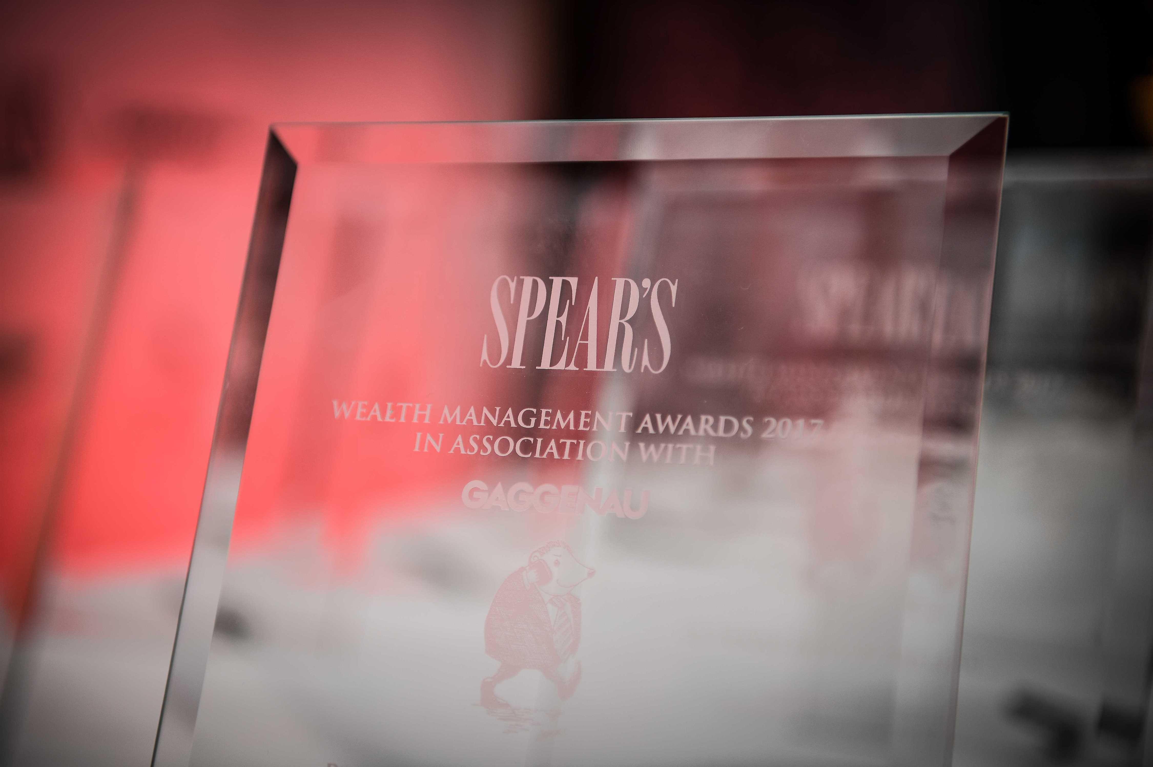 Spear's Wealth Management Awards award