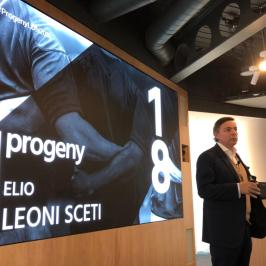 Elio Leoni Sceti speaking at Progeny's Annual Conference 2018