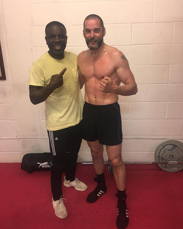 Fred with sparring partner Clinton McKenzie