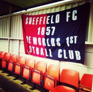 Banner showing 'Sheffield FC 1857 The World's First Football Club'