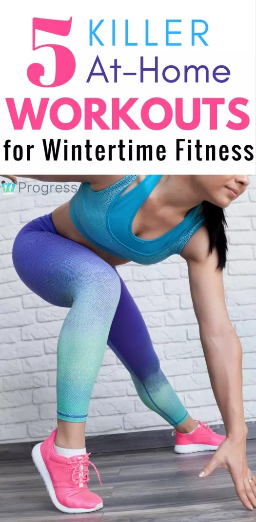 These challenging home workouts are perfect for winter days when it's too cold to go outside but you don't want to let your fitness slip! Exercises cover everything from yoga to HIIT to conditioning and keep you on track until the days get a little warmer