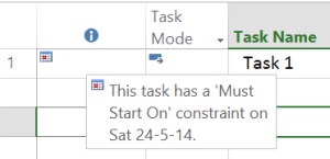 Must_Start_on_Constraint Microsoft project constraints