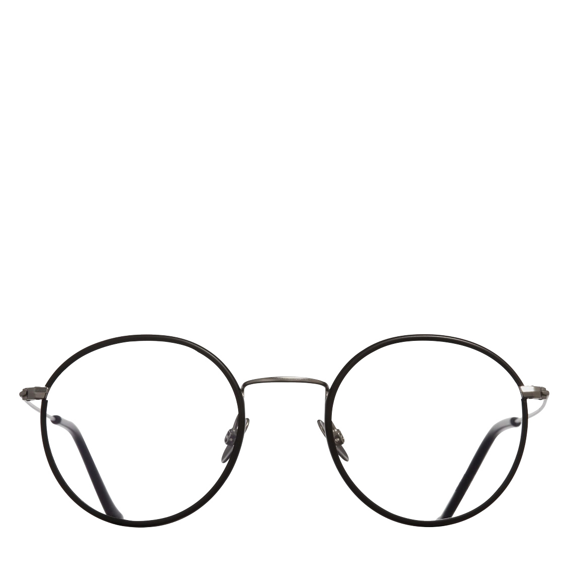 Cutler and Gross Retro Round-Frame Black Optical Glasses