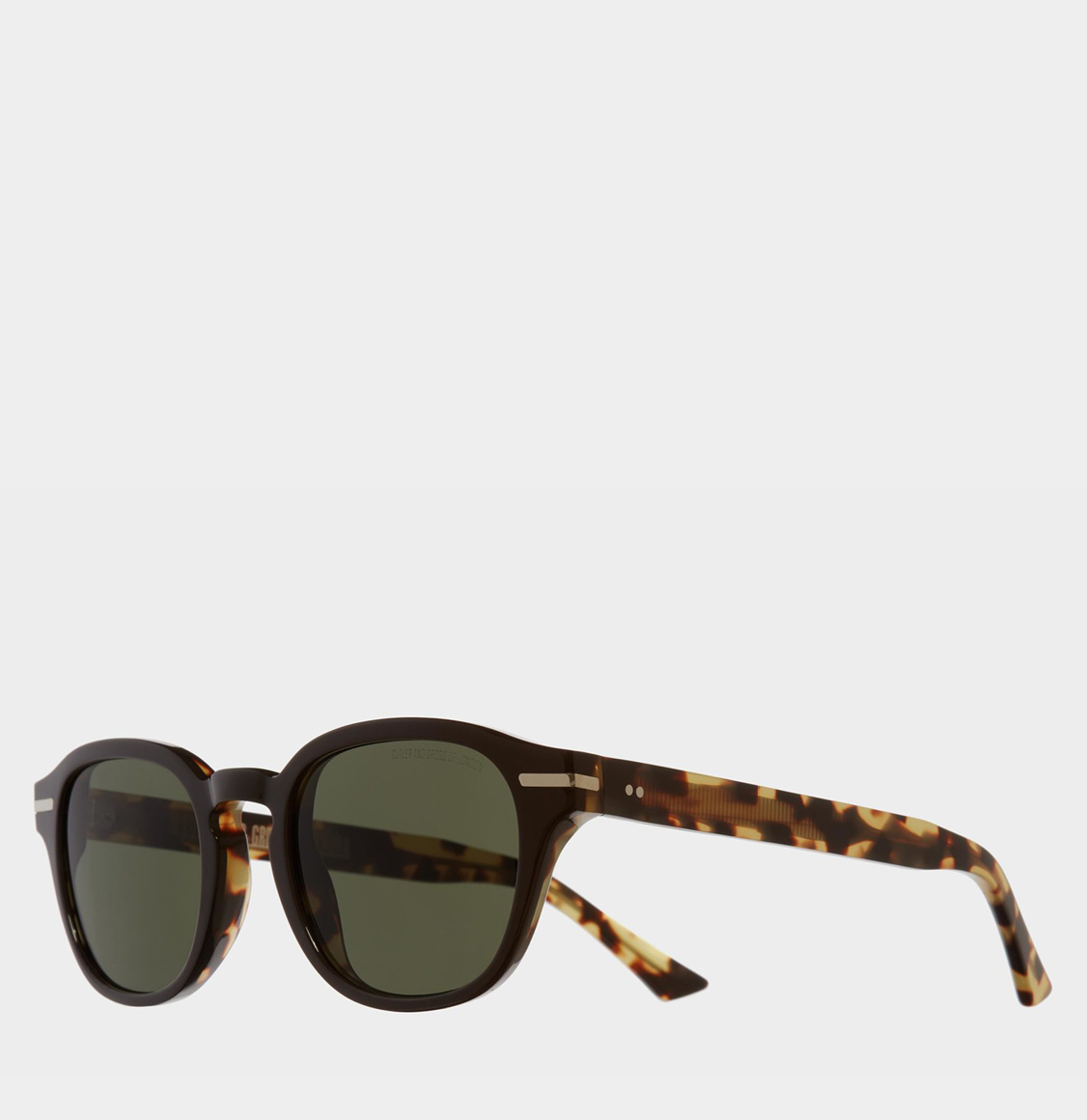 Cutler and Gross Round-Frame Black Taxi and Camo Acetate Γυαλιά Ηλίου