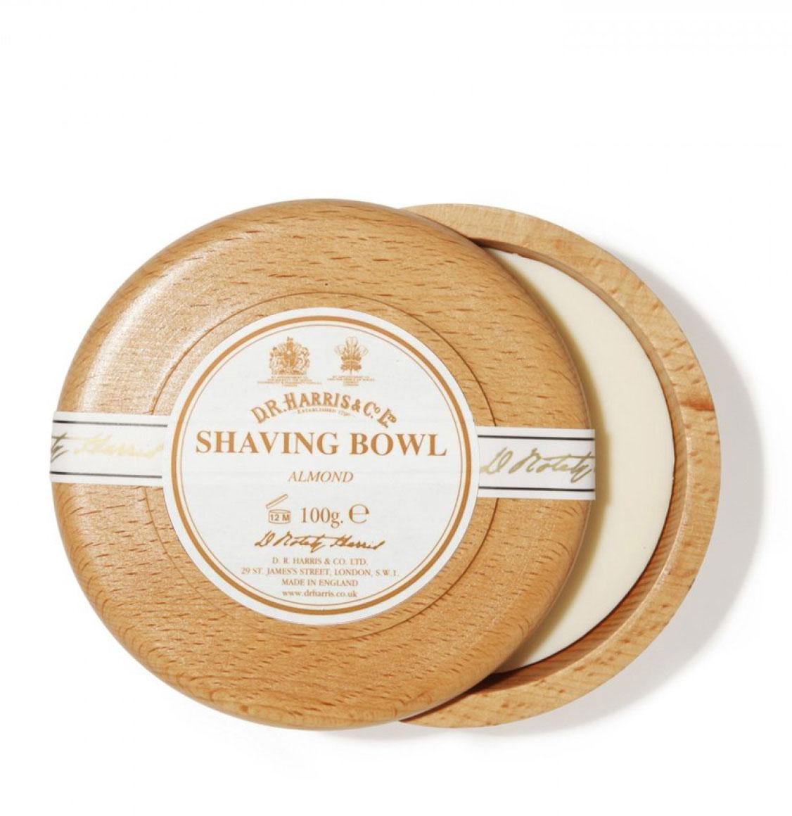 D R Harris Almond Shaving Beech Bowl 100g