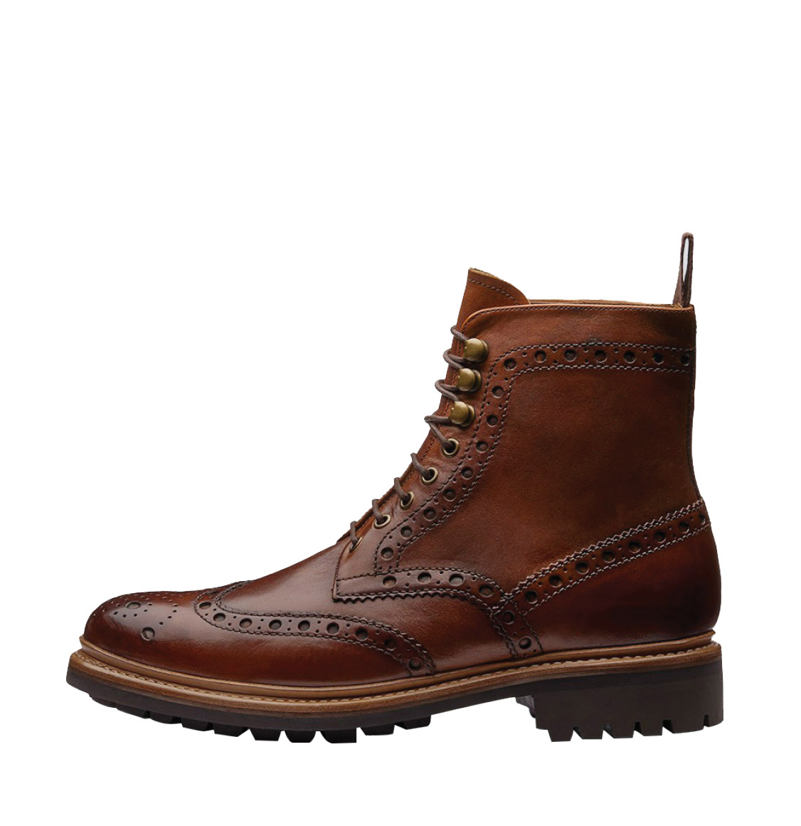 Grenson Fred Goodyear Tan Leather Brogue Boot