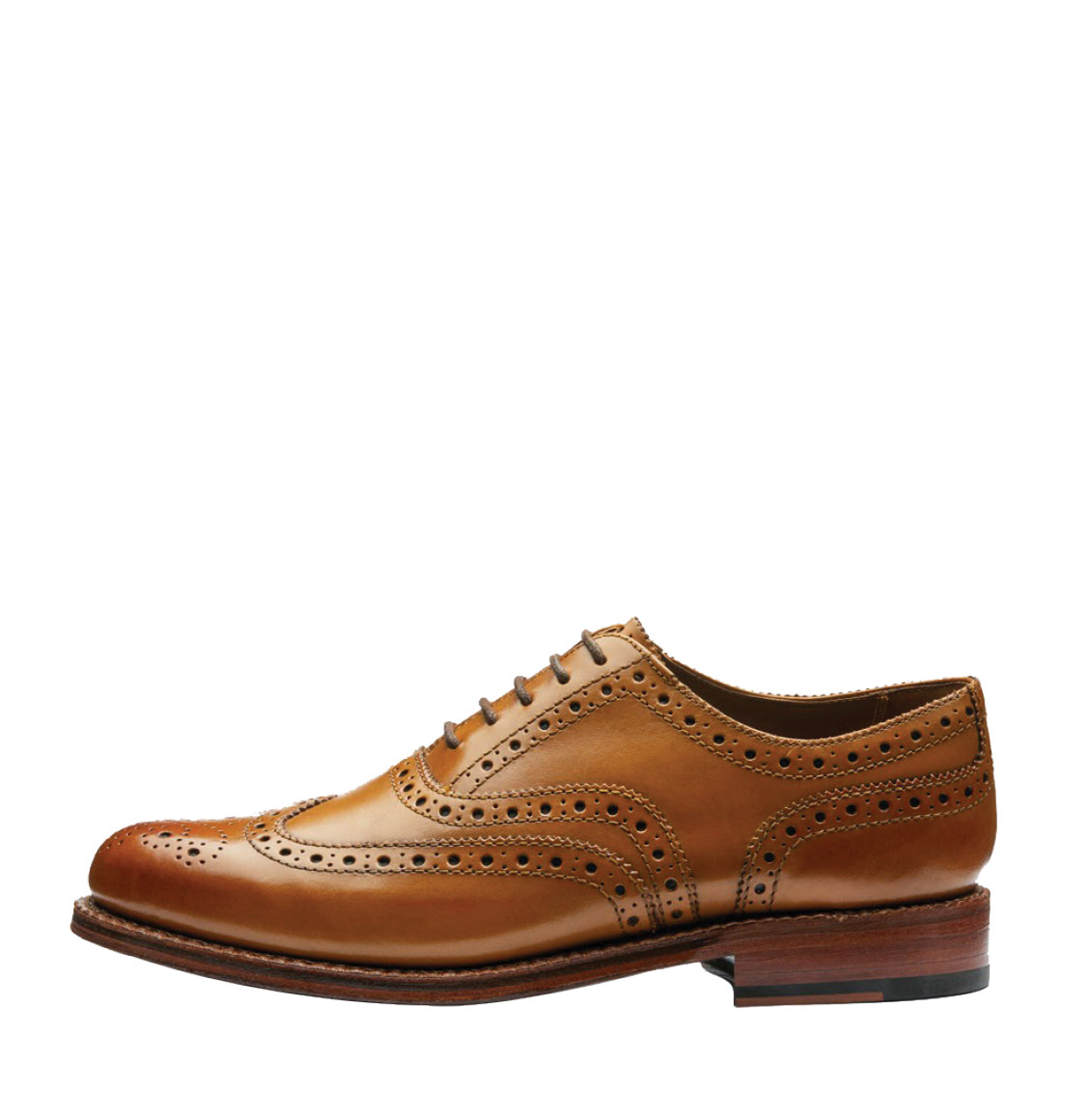 Grenson Stanley Tan Oxford Brogue Leather Shoes