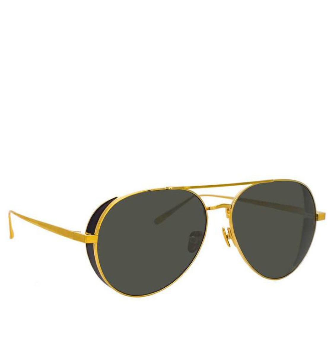 Linda Farrow 792 C1 Aviator Yellow Gold-Plated 57 Γυαλιά Ηλίου