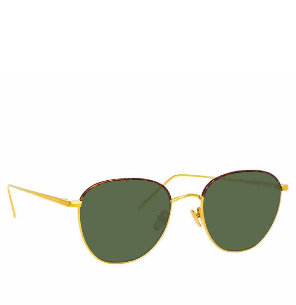 Linda Farrow 819 C19 Square Yellow Gold Tortoiseshell 52 Γυαλιά Ηλίου
