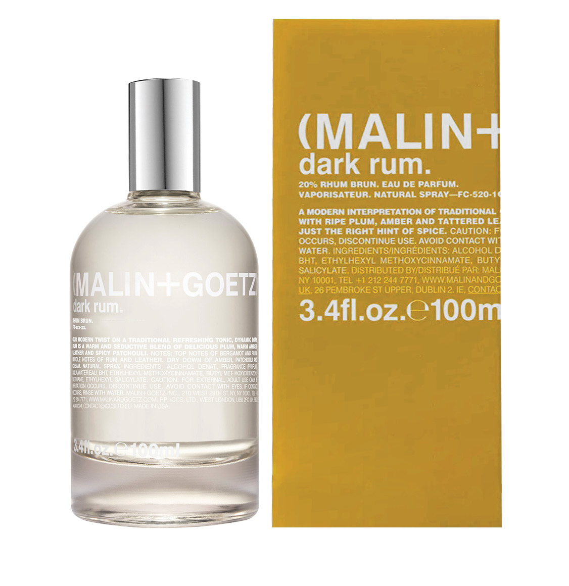 Malin and Goetz Dark Rum Eau de Parfum 100ml