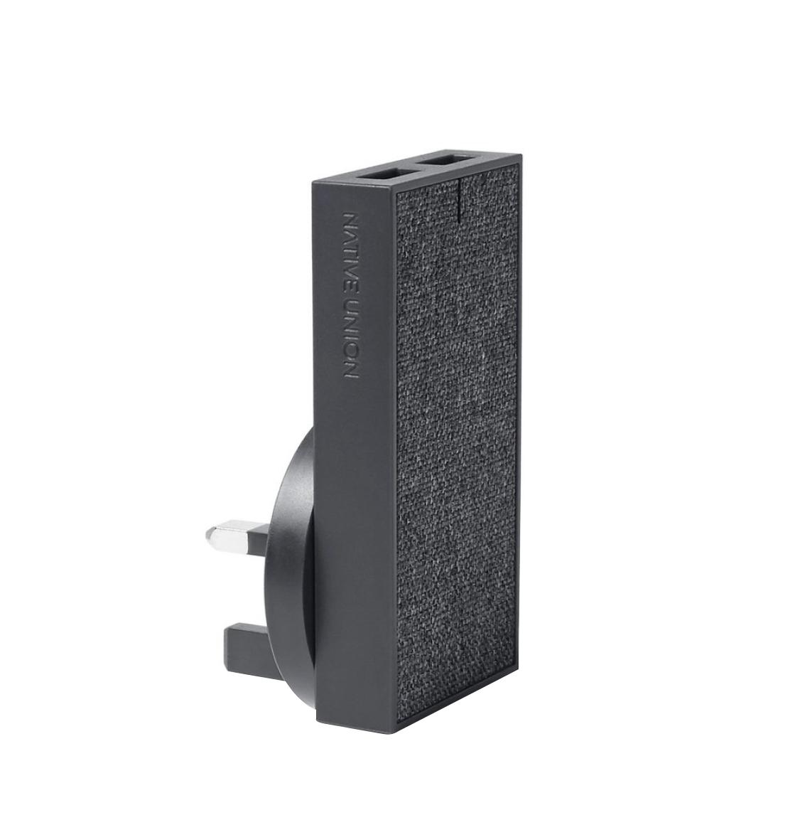 Native Union Smart Charger Dual USB International Slate