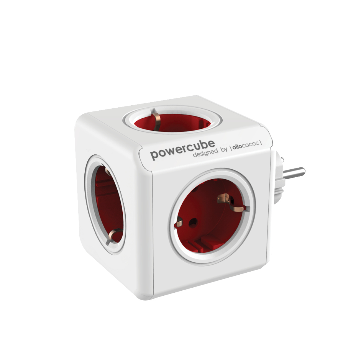 Allocacoc Power Cube Original Πολύπριζο Κόκκινο